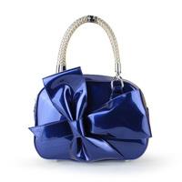 2013 bow bag evening bag fashion handbag patent leather navy blue women's japanned leather handbag