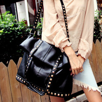 2013 paragraph fashion rivet large shoulder bag cross-body bags women's handbag