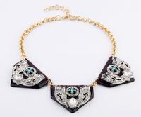 LuLu Frost J.e.w.e.l Crew Beautiful Designer Inspired Mixed Colours Crystals Statement Necklace j.e.w.e.l crew HK796