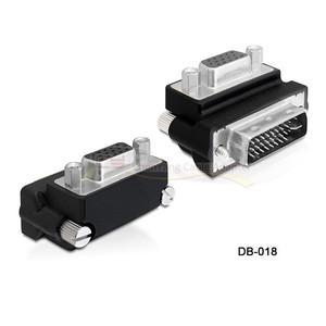Down Right Angled 90 Degree VGA SVGA Female to DVI 24 5 Male DVI to RGB Adapter(China (Mainland))
