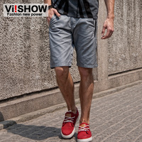 Viishow male casual pants shorts fashion brief straight knee-length summer pants capris commercial men's clothing