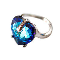 Accessories crystal ring finger ring female vintage