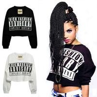 Fashion letter 2013 joyrich juniors clothing loose lo shi short design hiphop hip-hop hiphop sweatshirt