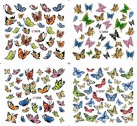 (24pcs/lot)72 designs(M1~M98) New arrival flower Water Transfers Stickers Nail art Decals(NS17s)