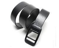 2013 1PCS Unisex Black/brown/white PU Leather Belt Waistband W/Anti-allergic Buckle,free shipping