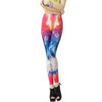 High Waist Punk Spike galaxy tights Fitness Brand Starry Galaxy Leggings For Women 2013 leggings