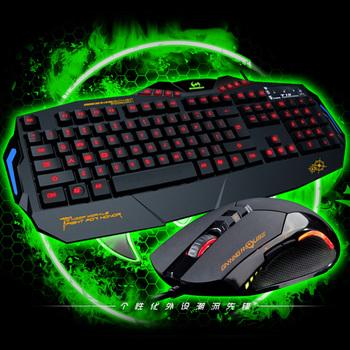 Weton t3010 electric keyboard luminous backlight mouse big set