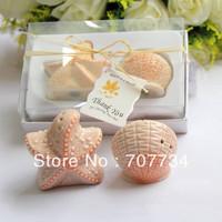 Ceramic Shell & Star Salt & Pepper Shakers Wedding Favor;wedding favor;baby shower