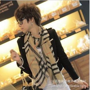 fashion new style scarf 2013 ladies scarf plaid scarf silk scarf H-004(China (Mainland))
