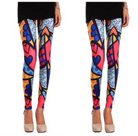 High Waist Patterned Fashion Fitness Brand Punk Printed Doodle Colors Leggings For Women 2013 New Leggings