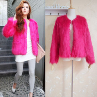 Short jacket female thick outerwear rose female top overcoat women's long-sleeve