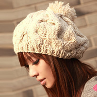 Handmade cap knitted winter hat knitted cap winter twist