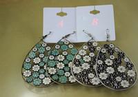 Minimum Order $20 (mixed order)  fashion jewelry Glazed Floret Pattern Earrings