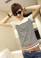 2013 male summer round neck T-shirt male top casual short-sleeve T-shirt male slim top