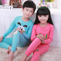 Child sleepwear long-sleeve male girls clothing baby autumn lounge underwear  set 100% cotton free shipping
