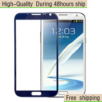 NEW Blue Replacement LCD Front Screen Glass Lens For Samsung Galaxy Note 2 II N7100 Free Shipping UPS DHL EMS HKPAM CPAM