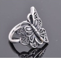 The order of at least $10(mixed order) D111 Fashion retro ring hollow butterfly free shipping!