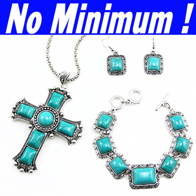 Vintage Jewelry sets Natural Turquoise necklaces & pendants blue green stones dangling Earrings costume jewellery women nke-j85(China (Mainland))