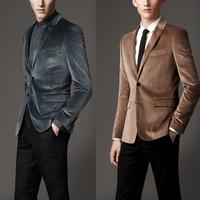 Commercial 2013 autumn slim casual suit commercial male british style velvet suit top