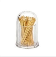 Delicate acrylic round toothpick box toothpicks extinguishers toothpick bottle acrylic round with transparent cover