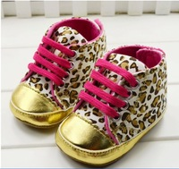 Infant boys girls Sneaker Shoes Leopard Grain Baby First Walker Shoes 0-24M Newborn Casual Shoe Prewalker 1pair Retail QS118