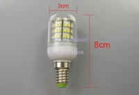 New 3PCS/LOT High Power 50000 Hours Ultra Bright 3W 3528 SMD E14 48 LED light Bulb Lamp Cool White With Cover 200V-240V 2666