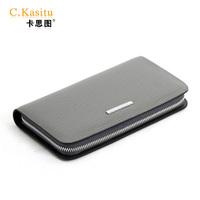 C . kasitu 2012 clutch male cowhide wallet day clutch bag grey