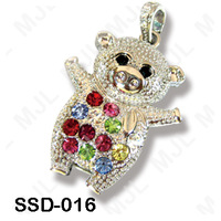 Crystal mini-pigs crystal usb flash drive gift style decoration crafts birthday lovers gift