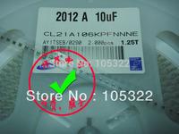Free shipping new & original SAMSUNG SMD capacitor CL21A106KPFNNNE 0805 X7R 10uf 106 10v