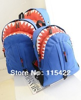 new style fashion shark school bag popular travel backpack women handbag high quality three colors to choose