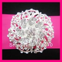 Free shipping crystal rhinestone diamante brooch pins,Wedding Chair Sash Pins,Flower Briadal Brooch Pins,Invitation Pins