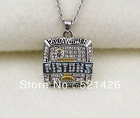 Free Shipping Sporty Silver plated Crystal Detroit Postons 2014 championship Basketball necklaces for women&men 5pcs a lot