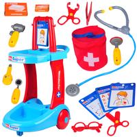Child artificial medicine box doctor box toy nursing cart set