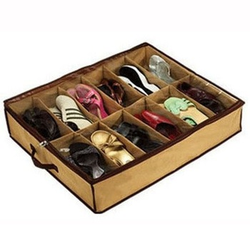 Closet Organizer Under Bed Storage Holder Box Container Case Storer For 12 Shoes