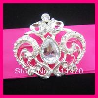 Free shipping Crown Crystal rhinestone diamante brooch pins,Wedding Chair Sash Pins,Flower Briadal Brooch Pins,Invitation Pins