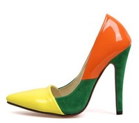 9-free shipping2013 Euramerican star faves woman sweet candy color pumps ladies/female fashion high heeled shoes,heels/footwear