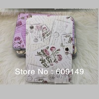 Free shipping 4colours High quality Flower pattern leather case for samsung galaxy note n8000 stand case for samsung n8000