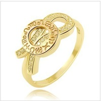 Free shipping   supernova  sale South Korea 14K gold double color twelve constellation ring 143130 personality  Genuine security