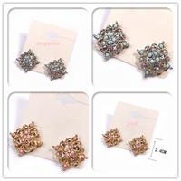 Minimum Order $20 (mixed order) fashion accessories rhinestone beads all-match cutout stud earring earrings