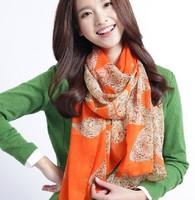 Autumn and winter female magicaf silk scarf fashion leopard print scarf elegant hedgehogs3 -