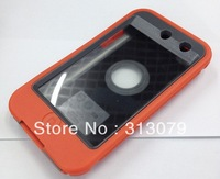 10pcs /lot hot sales colorful case for  iPod touch 4 three proofings case silicone skin cases for touch 4th