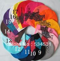 New 2013 hot 17pcs /lot Design Baby cap Fashion Star hat cotton hat boys & girls skull cap Beanie hat free shipping
