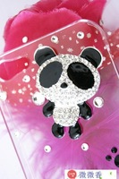 New Fashion Hot sale The panda Hard Back Cover Skin phone Case fit For Samsung note2 N7100 Wholesale