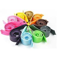 New 2013 Stylish High Quality Men's Tie Necktie Skinny Classic Solid Plain Neck Tie Silk Look