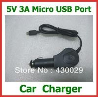 5V 3A Micro USB Port Car Charger Adapter for Quad Core Tablet PC Onda V973 / V972 / V813 / V812 / V811 etc. Free Shipping