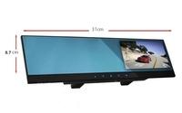 4.3inch monitor mirror + hd front camera recorder + HD 72P car DVR + 2AVIN