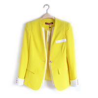 High Quality Neon Candy Contrast Color Double-Deck One-Button Fastenings Leisure Suit/Blazers For Women