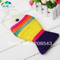 FREE SHIPPING!!! Color Sisal Scratching Cat Toy Fish Funny Cat Toys Scratching Toys