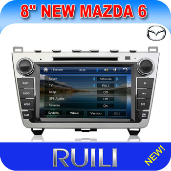 Mazda 6 Radio Automotivo Car DVD  2 Din  8 inch Free Navitel or IGO  map