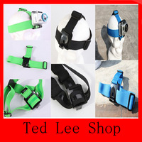 Free shipping 30pcs/lot Mount Camera Helmet Head Strap Belt for GoPro Fixed Headband Size Adjustable Anti-Skid For Gopro Hero2 3
